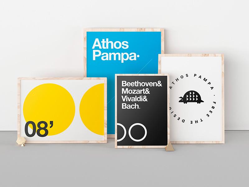 Free Poster Exhibition Mockup mockups pampa athos mockup exhibition poster free
