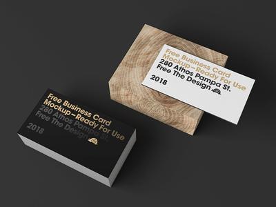 Free Card Display Mockup Dark Setup