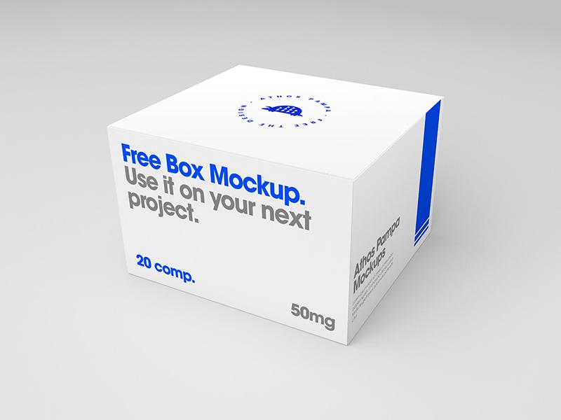 Free Box Mockup pampa athos free freebie mockup box