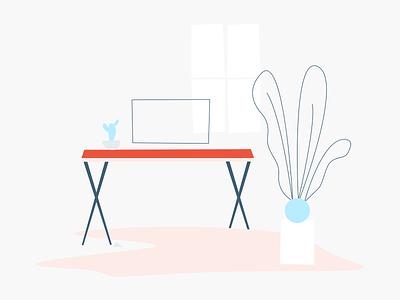 Scene Illustration design abstract website logo illustration