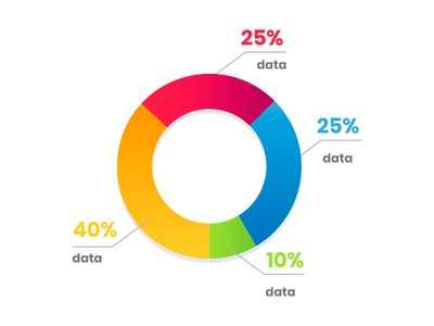 Little Infographic data icon illustration design infograph