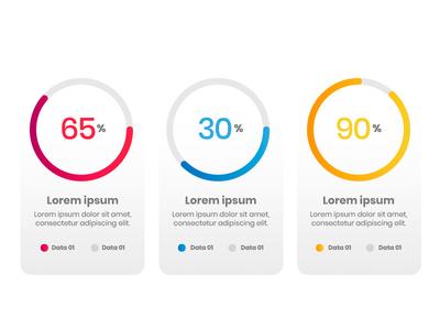 Little Percentage Graphs ux design ui info design website info graph