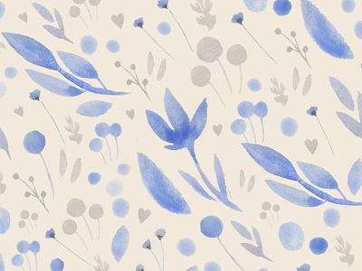 Watercolor Floral Pattern vector pattern floral watercolor watercolor floral pattern