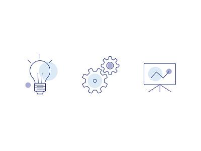Development Icons gears presentation ideas website brochure development icons