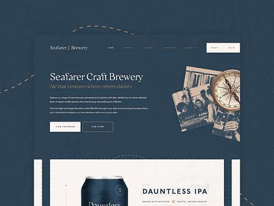Seafarer Brewery - Website Design water seafarer sea sailor ship sailing packaging ocean maritime craft brewery branding beer ale web design website