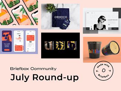 Made With Briefbox: July 2021 design logo website packaging identity illustration branding web design ui