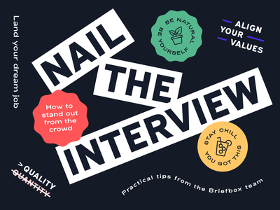Industry Insights: Nail The Interview industry insight illustrator designer creative directors agency tutorials how to interview portfolio presentation guides interview illustration graphic design
