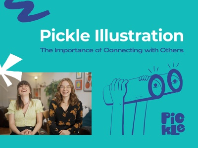 Catching Up with Pickle Illustration - Part 2 learn design design school illustration illustrator designer creative exhibition mural pickle illustration interview briefbox