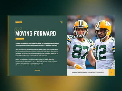 Green Bay Packers - Website Blog Concept