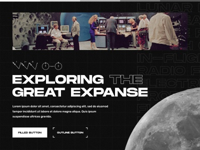 Space Sector Agency - Style Tile #1 branding space future stem engineering voyager space x nasa monochrome web design style tile brutalist brutalism modern retro exploration brand identity