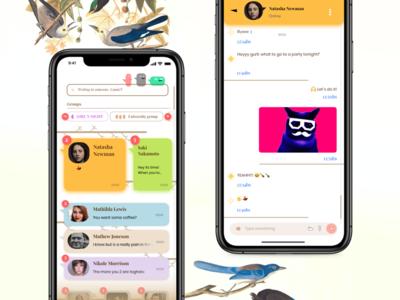 Chat App - Concept ux adobe xd bird conversation concept ui app chat