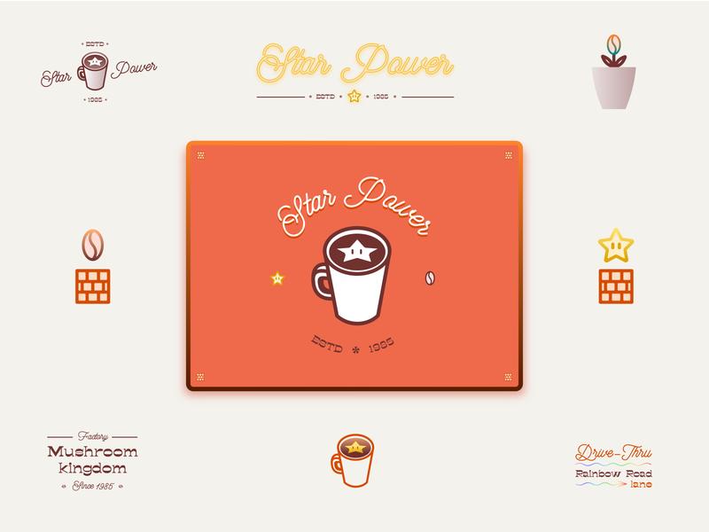 Super Mario Bros. - Coffee shop super mario bros nintendo star fan art cup coffee shop coffee cup illustration logo typography argentina design vector branding mario kart mario videogames