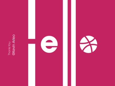 Hello World invite dribbble thanks typography new hello