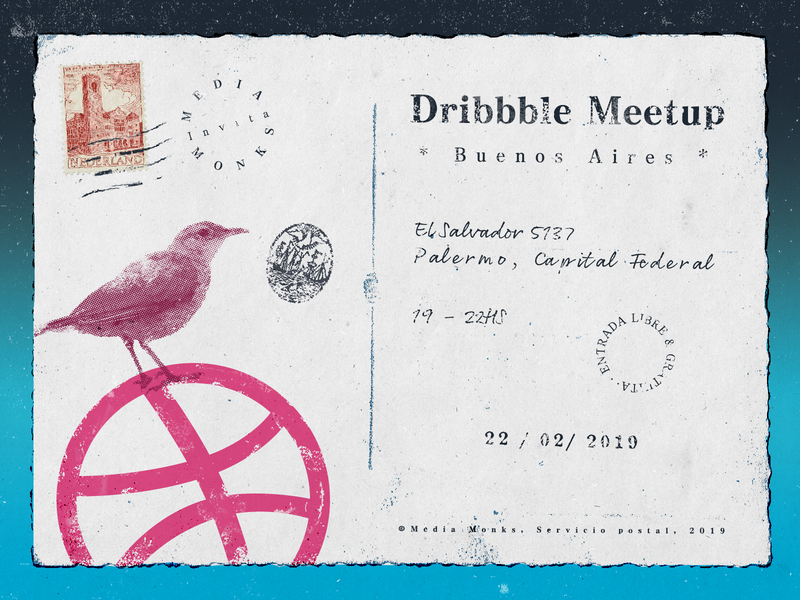 Dribbble Meetup - Buenos Aires (Playoff) postcard bird dribbble graphic argentina buenos aires