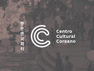 Centro Cultural Coreano monogram logo typography corean design logo