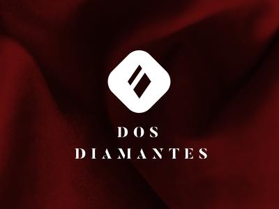 Dos Diamantes diamond graphic typography logo