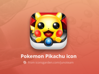 Free PSD Pokemon Pikachu icon
