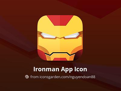 Free PSD Iron man icon game superman superhero combat fight avenger commands ironman iconsgarden android ios icon