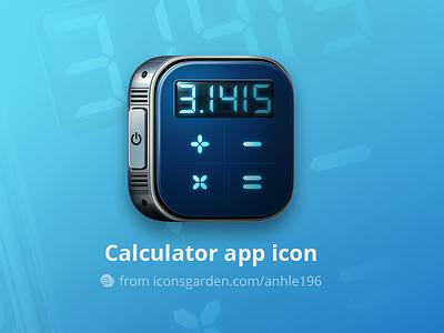 Calculator app icon education divide division multiplication summation math count calculator iconsgarden android ios icon