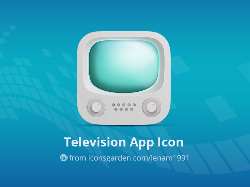 Free PSD Television app icon iconsgarden icon ios android volume signal button monitor watch machine device television