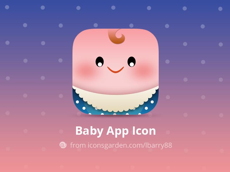Free PSD Newborn Baby app icon small little education game children child kid newborn baby iconsgarden icon ios