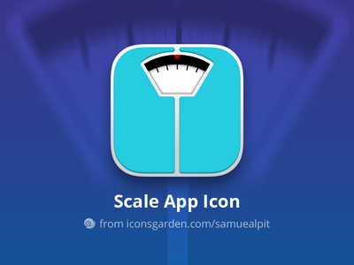 Free PSD Scale app icon fat diet weight management weight scale weight balance scale iconsgarden
