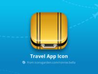 Free PSD Travel Suitcase app icon