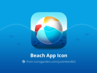 Free PSD Travel Beach app icon