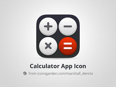 Free PSD Calculator app icon education multiplicate division multiplication minus plus subtraction summation math calculate calculator iconsgarden