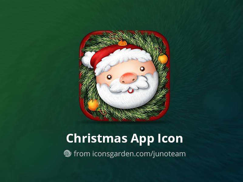 Free PSD Christmas Santa app icon smile face man holiday noel christmas branch christmas ball xmas snow christmas santa