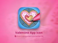 Valentine Heart Cake app icon