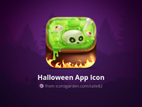 Halloween Boiled Skull app icon