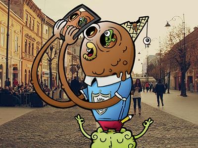 Selfie illustration carnivorum selfie