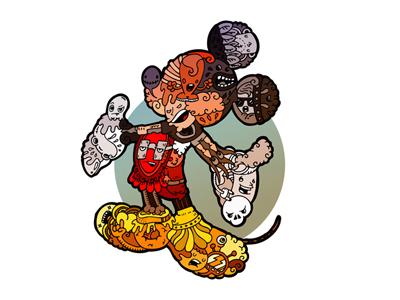 Cartoon with cartoons (Mickey Mouse) cartoon illustration mickey mouse carnivorum