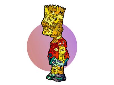 Bart Simpson cartoon carnivorum bart simpson illustration