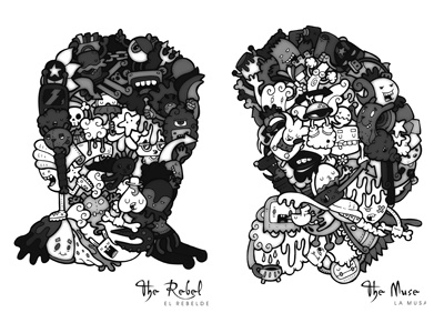 Portraits (Retratos) portrait carnivorum illustration cartoon