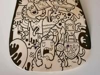 Illustration in Skateboard