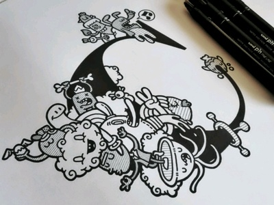 C de @carnivorum carnivorum typographyart tipografia handmade typography sketch illustration cartoon drawing