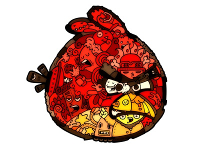 Angrybirds by carnivorum angrybrids cartoon illustration carnivorum