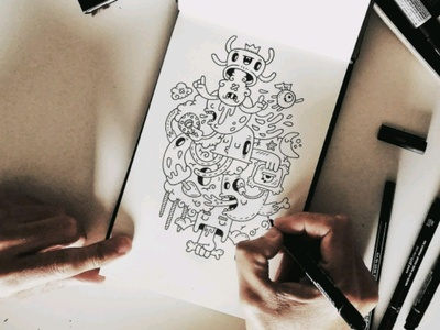 Sketching! carnivorum typographyart tipografia handmade typography sketch illustration cartoon drawing