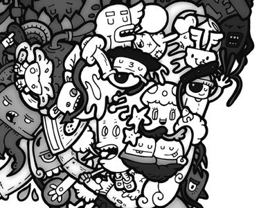 Michael Jackson illustration portrait cartoon carnivorum illustration