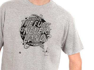 Where the fuck is Neverland T-Shirt t-shirt carnivorum cartoon illustration