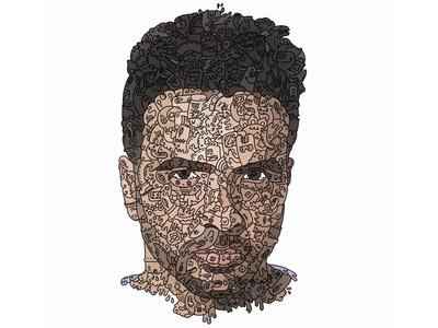 Luis Fonsi DoodlePortrait