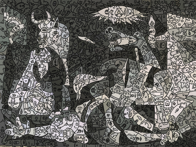 Guernica doodleart by @carnivorum