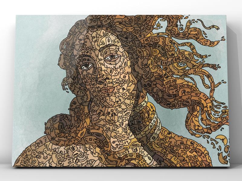 Venis de Milo doodleart design art ilustración illustration doodle doodleart carnivorum