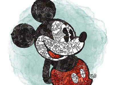 mickey mouse doodleart