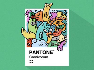 Pantone carnivorum design carnivorum doodleart art ilustración illustration pantone
