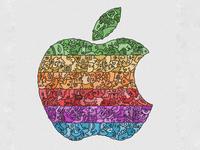 Apple logo doodleart