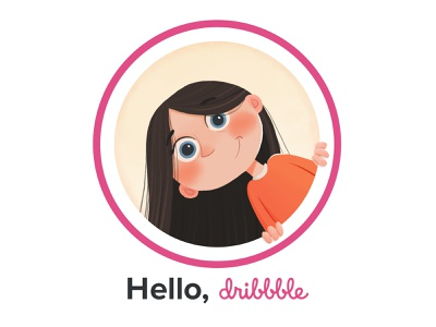 Hello Dribbble! girl firstshot debutshot dribbble portrait hello debut illustration