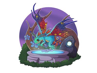 Faerie Dragon art fantasy puck world of warcraft magic faerie dragon digital art illustration